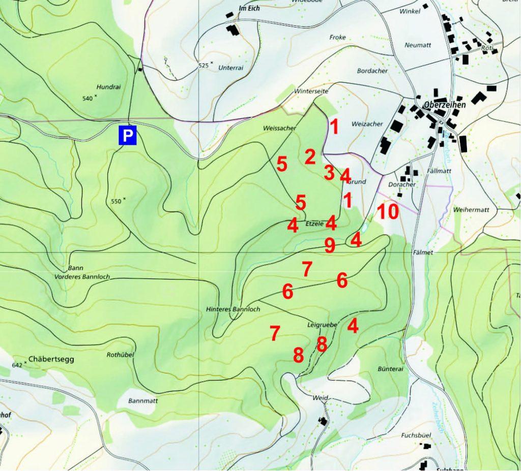 Ausflugtipp, Fazit Ausflug: Persönlicher Augenschein Staatswald Densbüren, Karte
